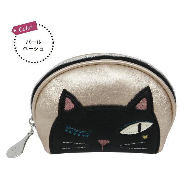 シャレ猫ジュエリーポーチ (ノアファミリー 猫グッズ ネコ雑貨 ジュエリー アクセサリー ポーチ 2018SS) 051-J513