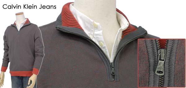 カルバンクライン ハーフジップセーター