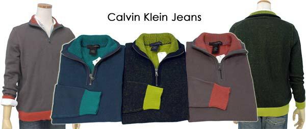 CALVIN KLEIN JEANS ハーフジップセーター