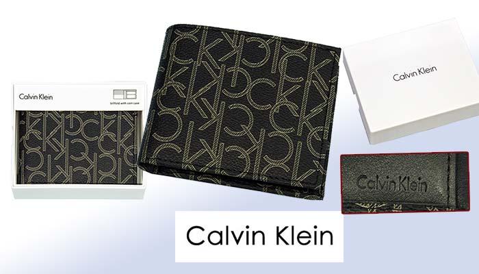 Calvin Kleinカルバンクライン モノグラム財布、ギフトボックス入り