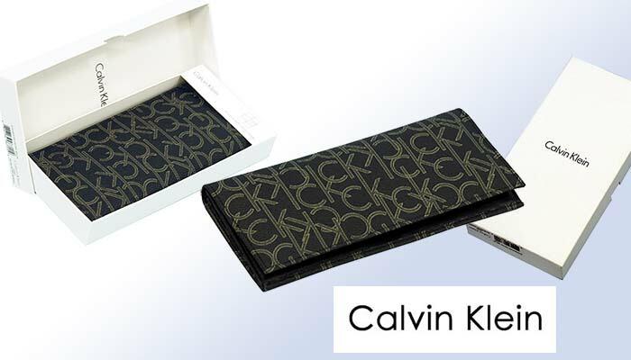 Calvin Kleinカルバンクライン モノグラム長財布、ギフトボックス入り