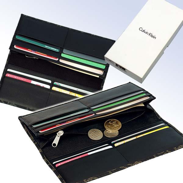 Calvin Kleinカルバンクライン モノグラム長財布 父の日プレゼント