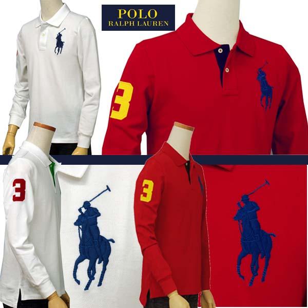 ラルフローレンビッグポニー長袖鹿の子ポロシャツ