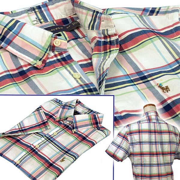 POLO Ralph Lauren 半袖ボーダー鹿の子ポロシャツ