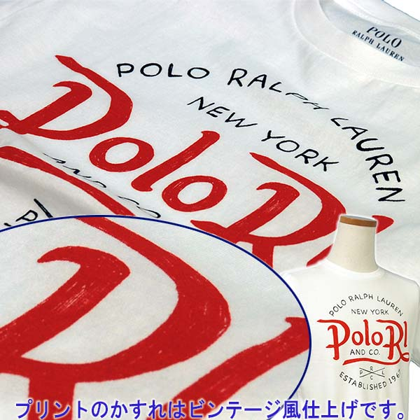 ラルフローレン POLO RLプリント半袖Tシャツ ホワイト 白