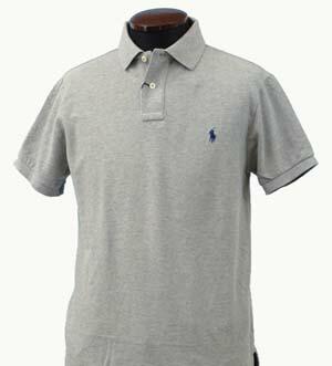 ラルフローレン 半袖 鹿の子 ポロシャツ グレー