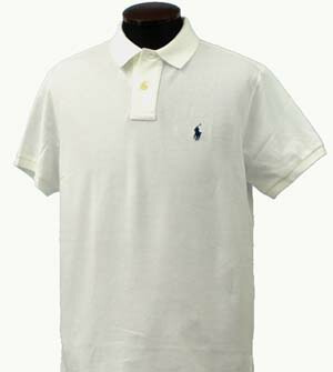 ラルフローレン 半袖 鹿の子 ポロシャツ ホワイト 白