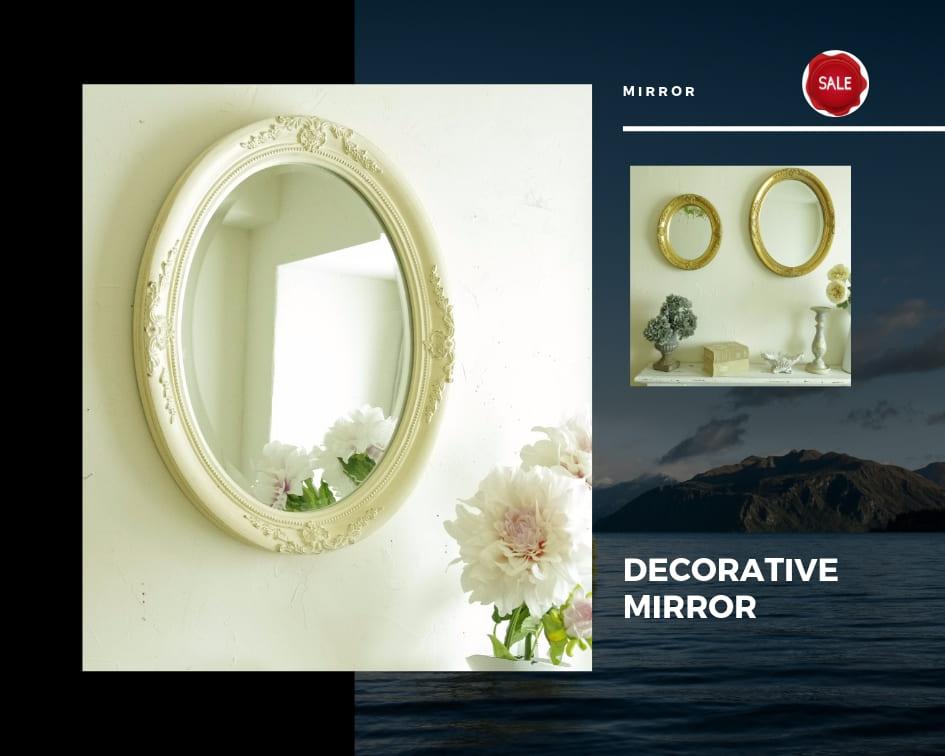 【セール!】壁掛け鏡 アンティーク