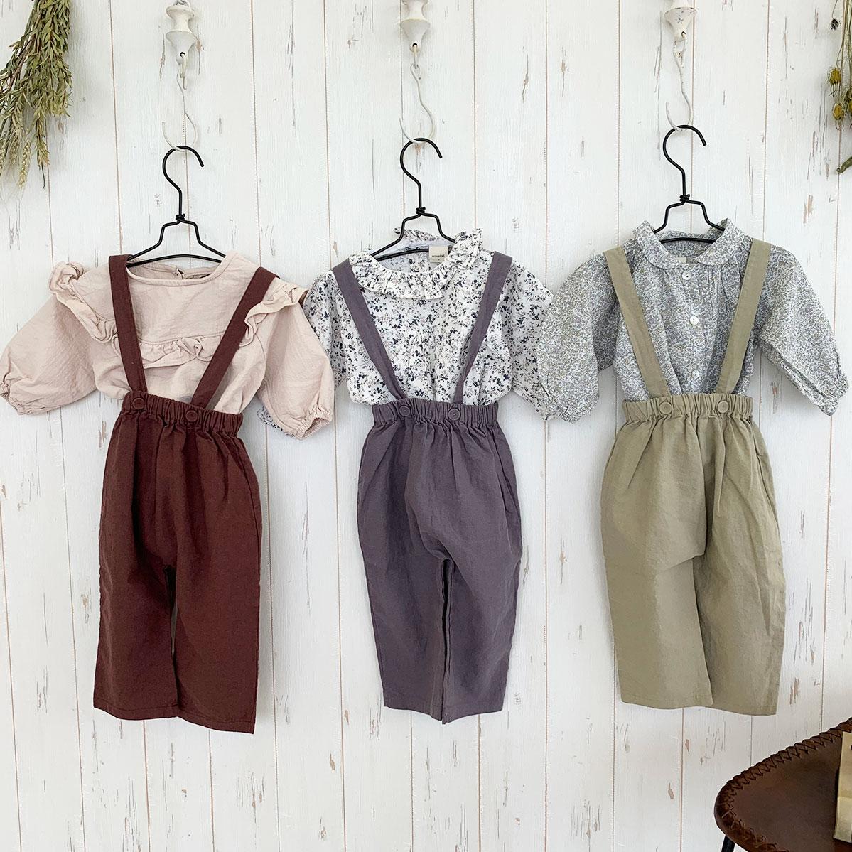 Suspenders linen pants