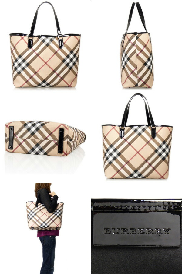 NICKIE LARGE LANDSCAPE TOTE Large tote bag is chic and trendy and cool  patent leather large plaid. Can accommodate plenty of luggage b43d626fe6fb1