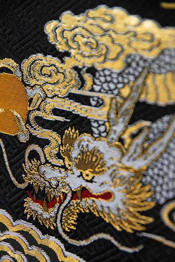 金襴 名前刺繍代込み 金刺繍生年月日 紺 小 五月 端午 名前旗