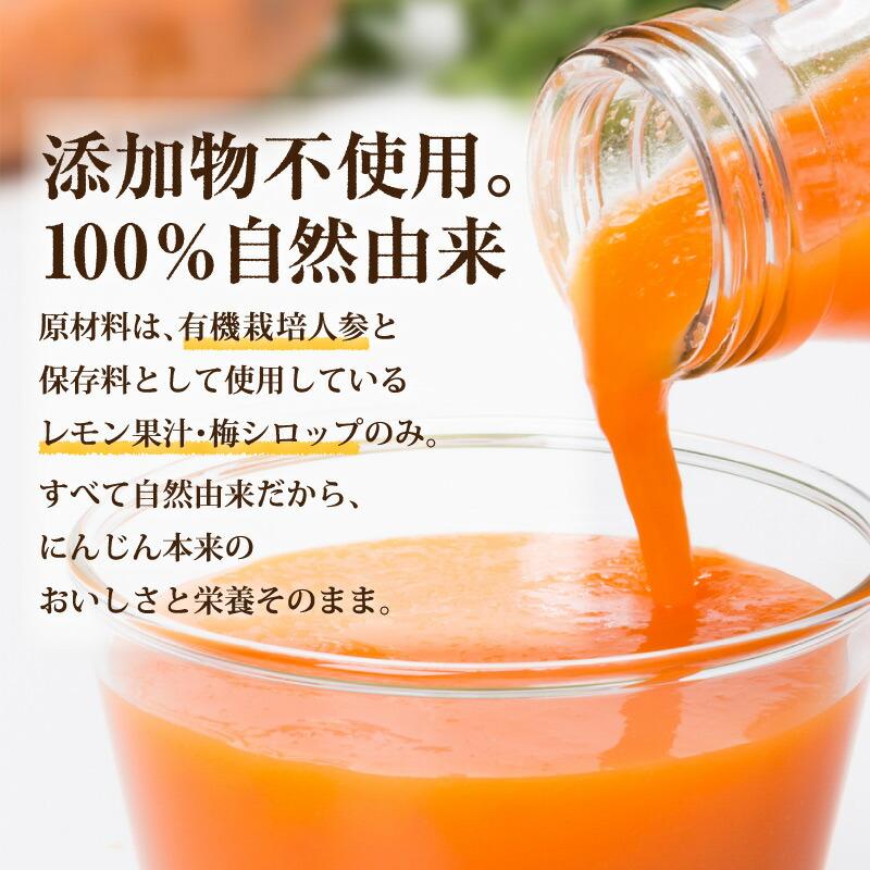無添加 100%自然素材 にんじんジュース