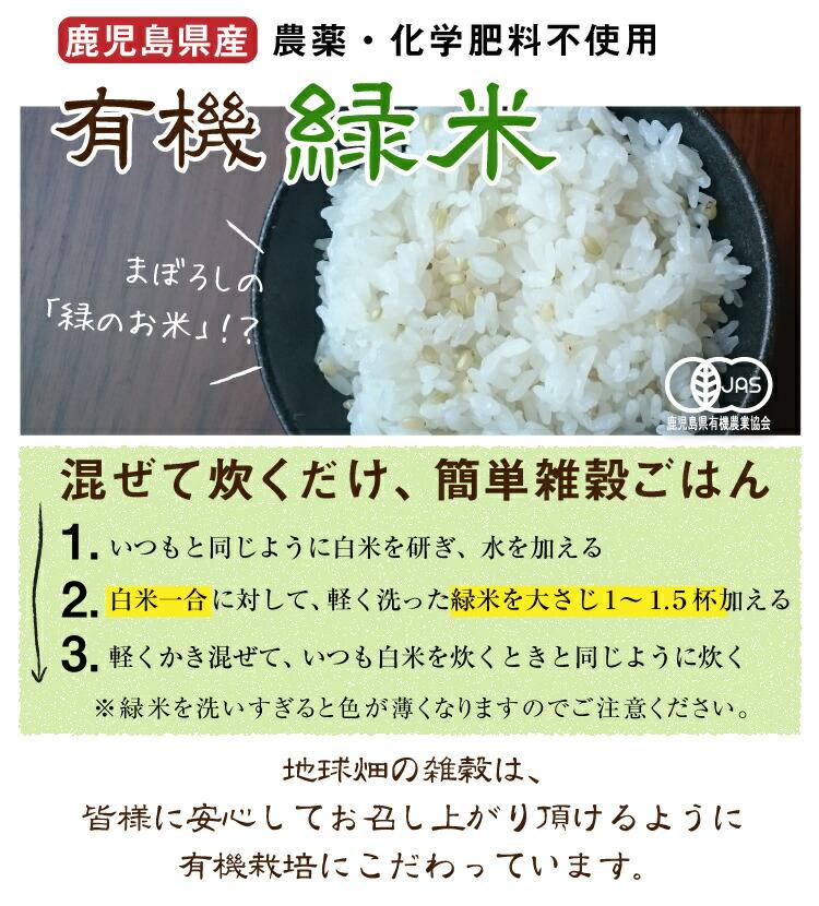 地球畑の緑米