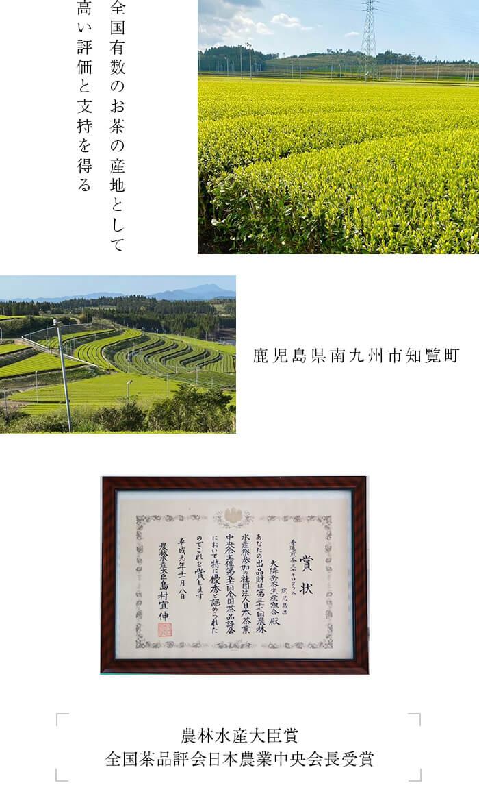 全国有数のお茶の産地 鹿児島県南九州市 知覧町
