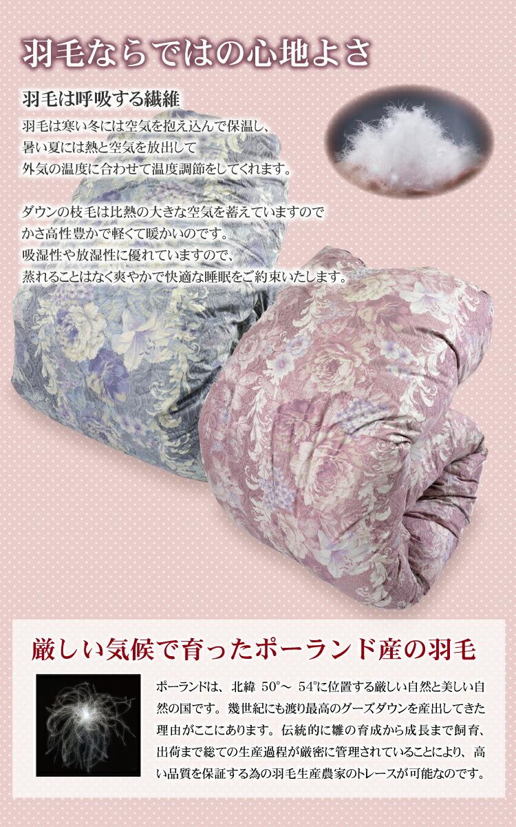 こだわりの超長綿使用のポーランド産ホワイトグースダウン!ロイヤルゴールドラベルの羽毛ふとんです!