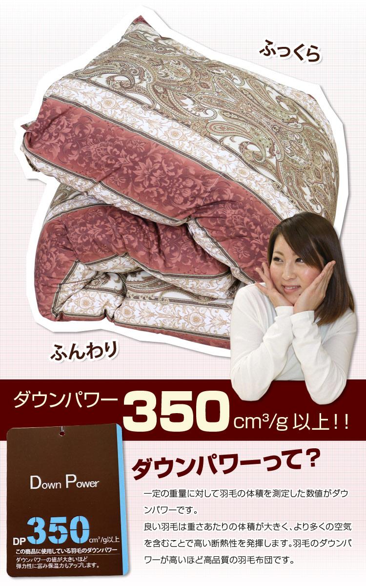 信頼のブランド、昭和西川の日本製羽毛掛け布団です!