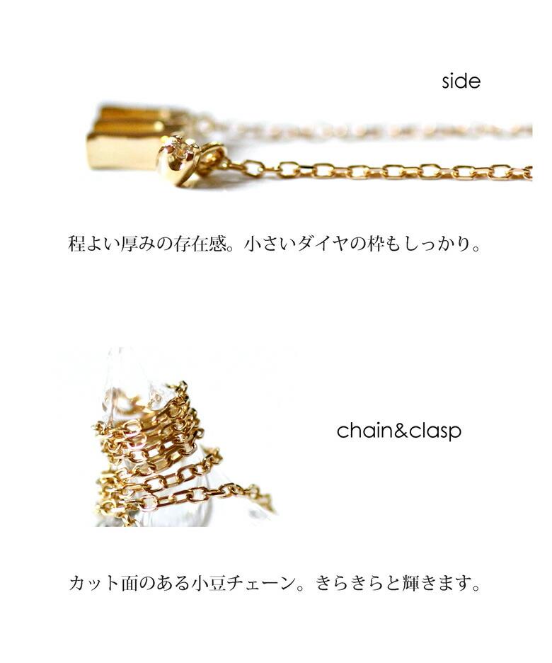 K18 ゴールド イニシャル ネックレス ディテール