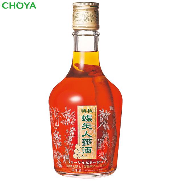 チョーヤ 『蝶矢特選人参酒 700ml 』 ロングセラー商品! ローヤルゼリーも配合し、梅酒で風味を加えています! 【通販限定】 【贈答対応】