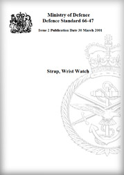 U.K. Department of Defense Strap, Wrist Watch standard book cover