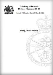 英国国防省Strap, Wrist Watch規格書表紙