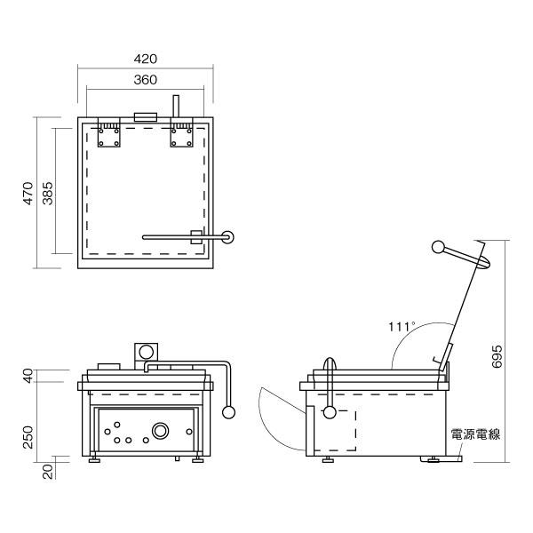 ニチワ 電気自動餃子焼器 NGM-420【業務用プロ道具 厨房の匠】