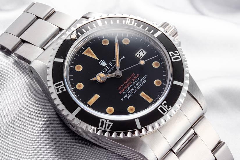 ロレックスシードゥエラー Ref.1665 赤シード マーク2ダイアル 5mmシンケース 1967年 29番