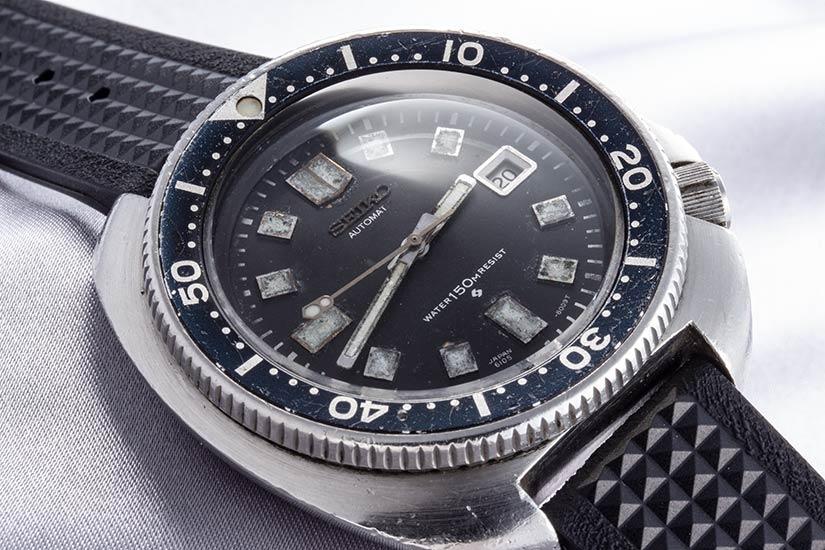 セイコーセカンドダイバー 150m Ref.6105-8110 ステンレス 1973年 後期ダイアル/ケース 中期バック