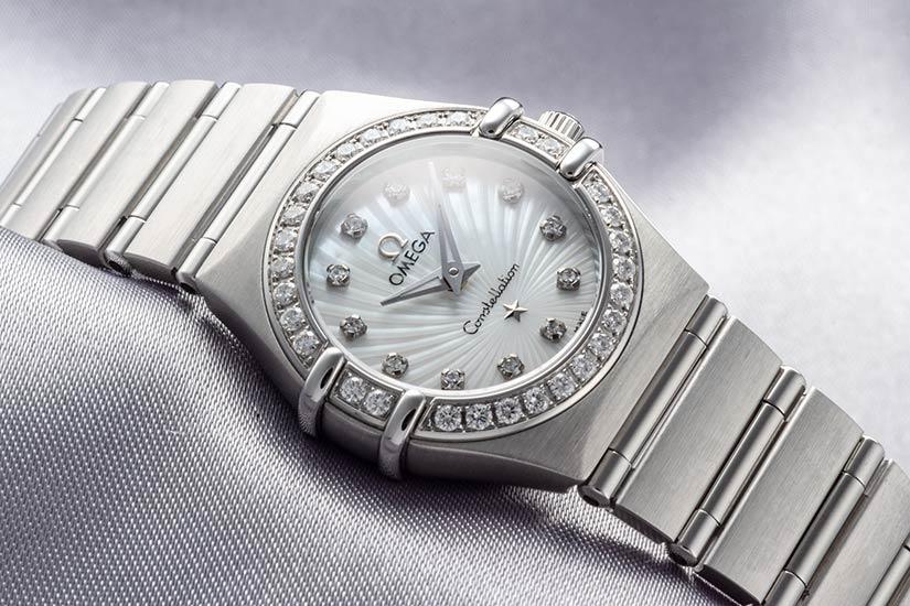 オメガコンステレーション 160周年記念モデル Ref.111.15.26.60.55.001 ステンレス ホワイトシェル ダイヤモンド 2008年 908番 160周年