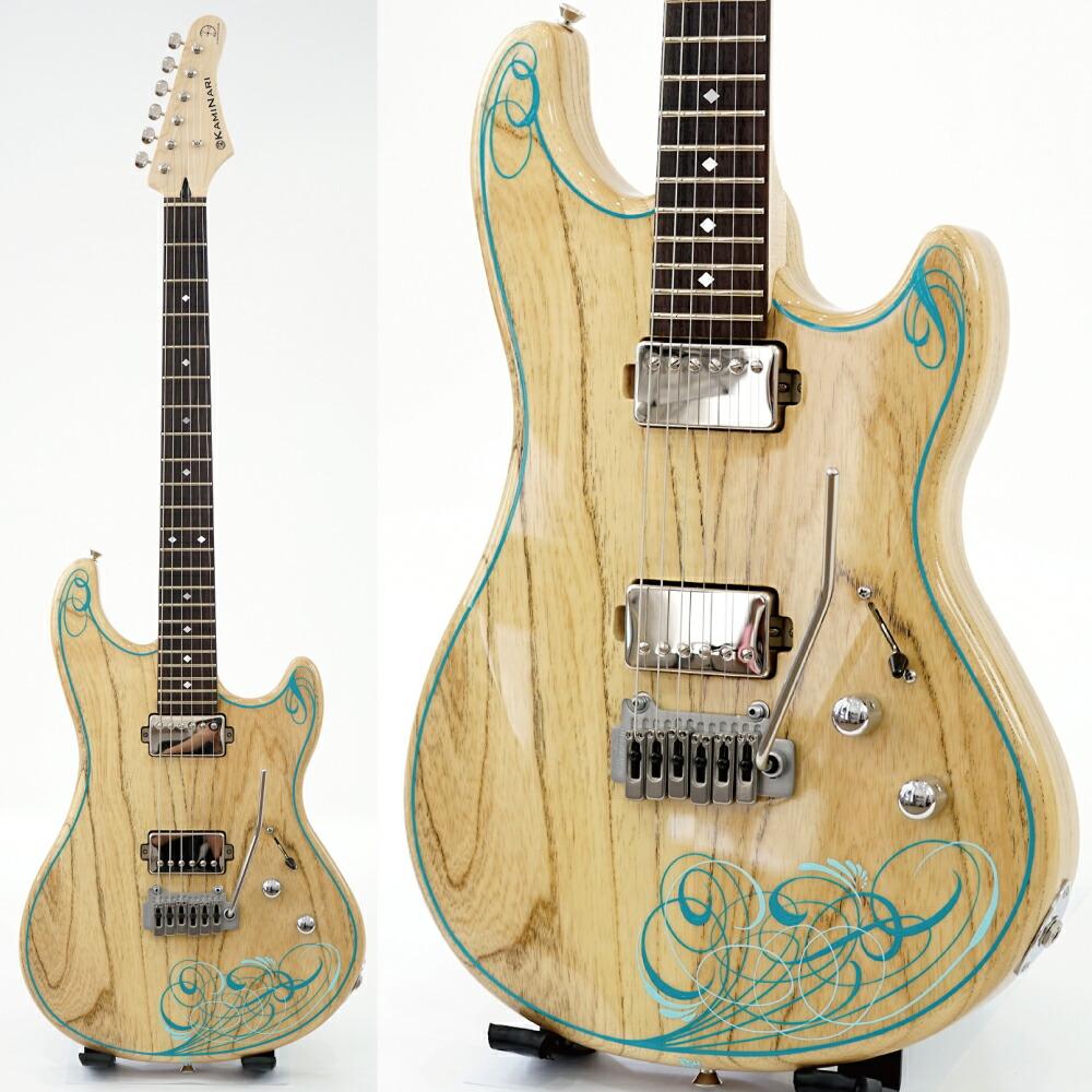 KAMINARI K-LQ02 Liquid-2 NAT Pinstripe Custom エレキギター