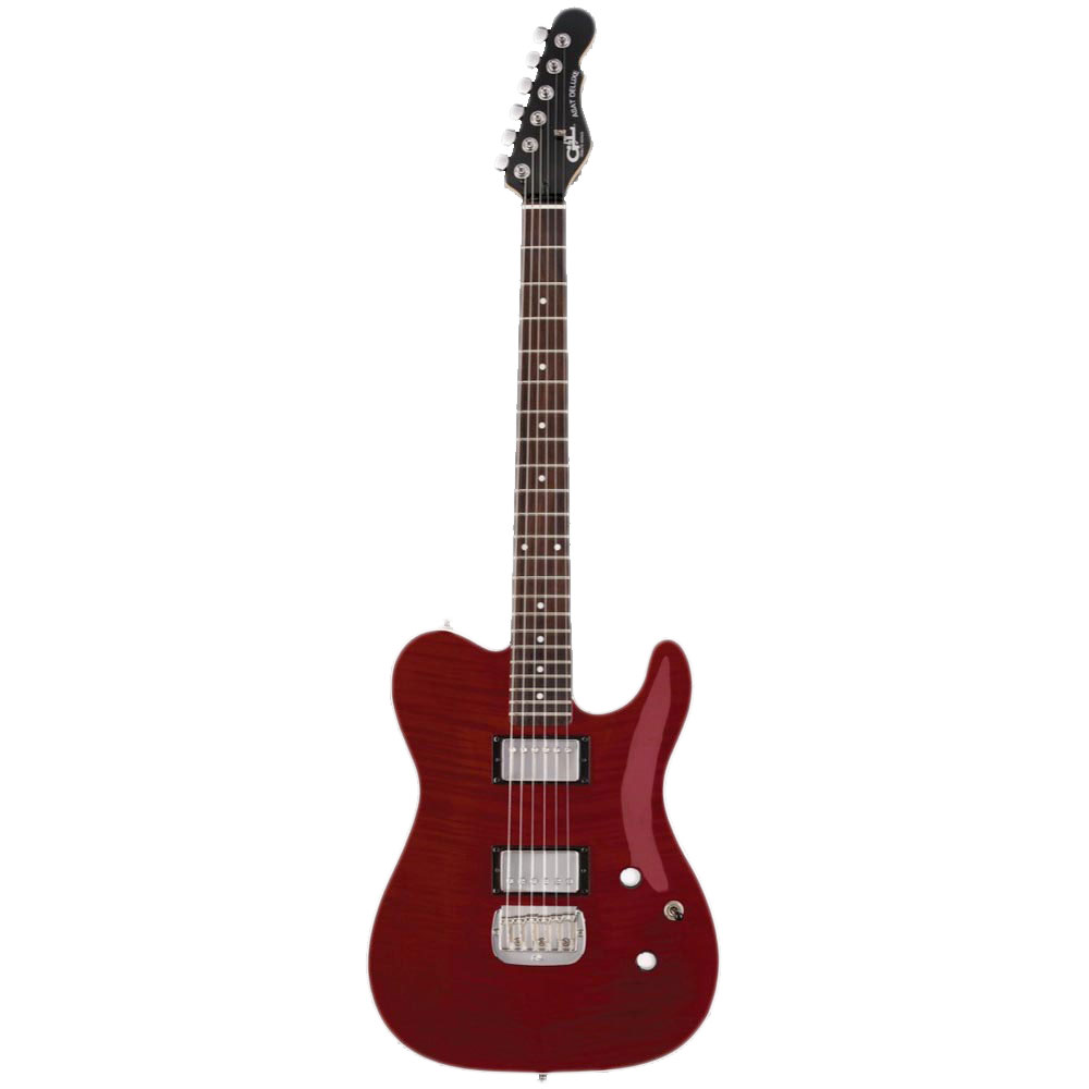 G&L Tribute Series ASAT Deluxe Carved Top Trans Red エレキギター