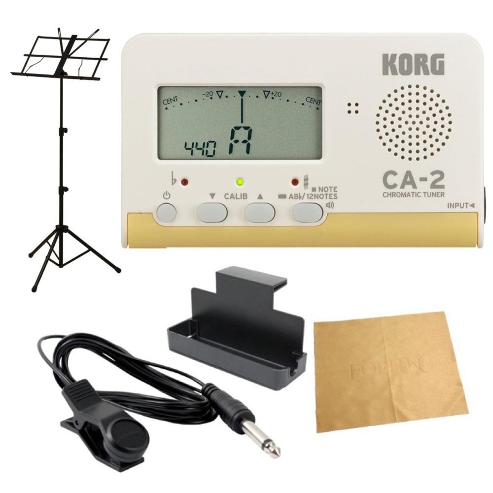 KORG CA-2 クロマチックチューナー AMS-40B 譜面台付き 管楽器 吹奏楽 入門用5点セット