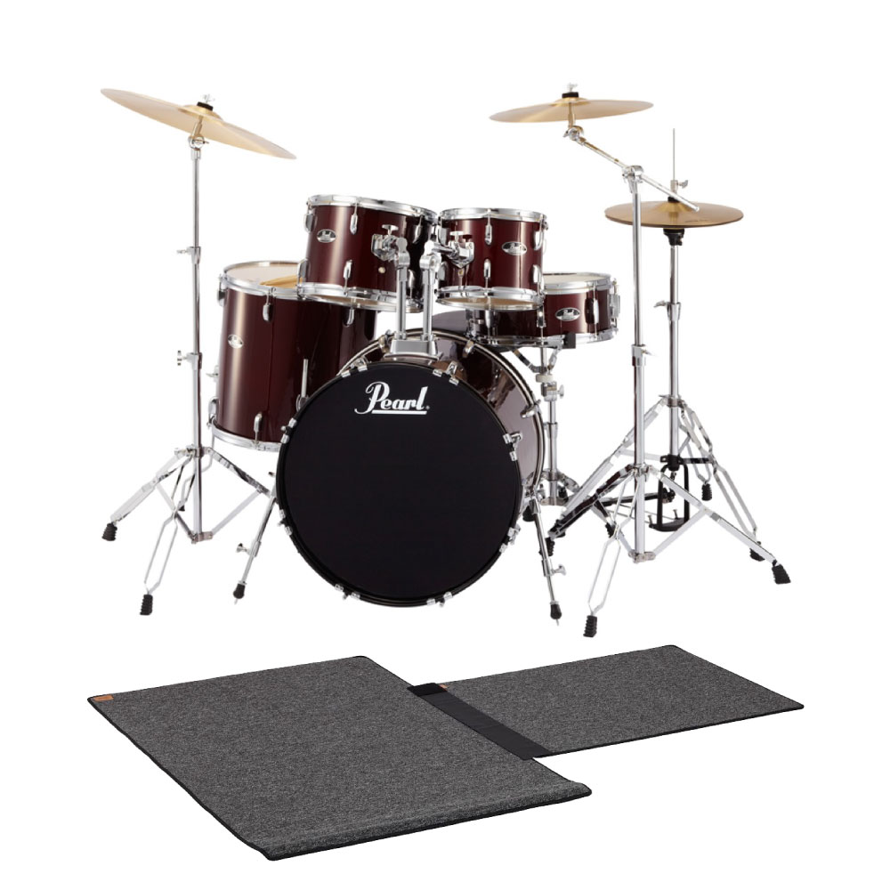 Pearl ROADSHOW RS525SCW/C #91 RED WINE ドラムマット付き ドラムセット