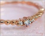 4月の誕生石 ダイヤモンド ピンキーリング