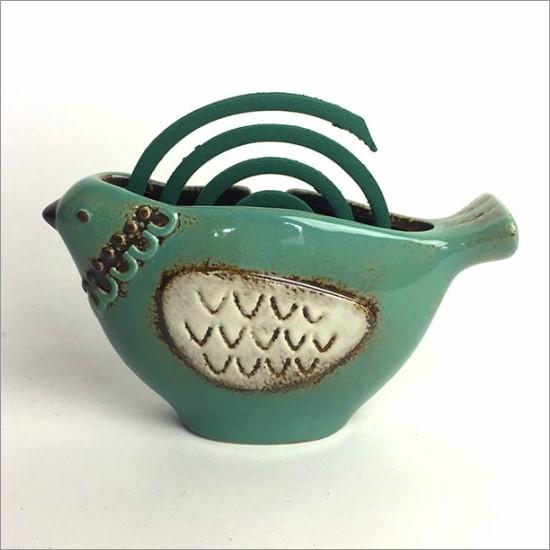 風鈴 アジアン かわいい おしゃれ 陶器 トリ
