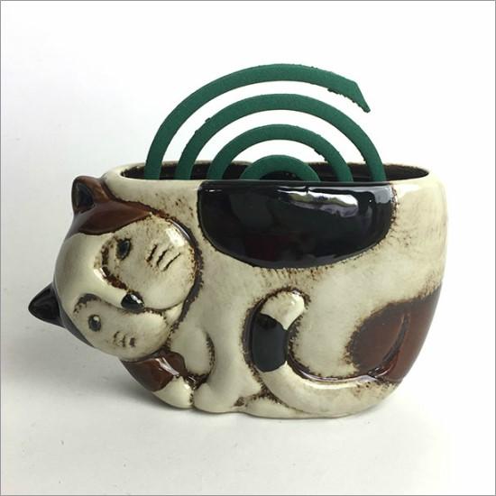 風鈴 アジアン かわいい おしゃれ 陶器 ネコ