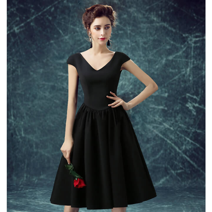 Partydress Cinderella One Piece Prom Dress Mid Length Dresses Knee