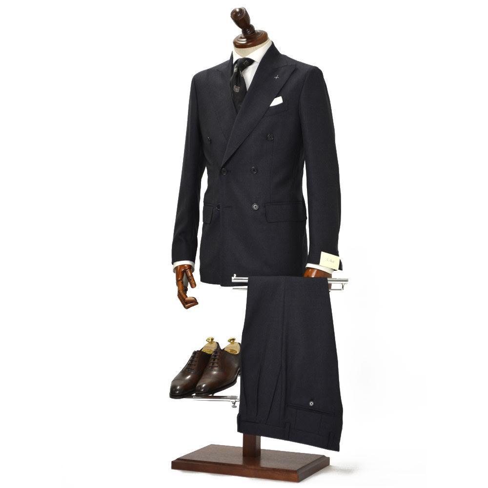 De Petrillo【デ ペトリロ】ダブルスーツ SORRENTO K/C TW18058U/135 ウール チャコールグレー