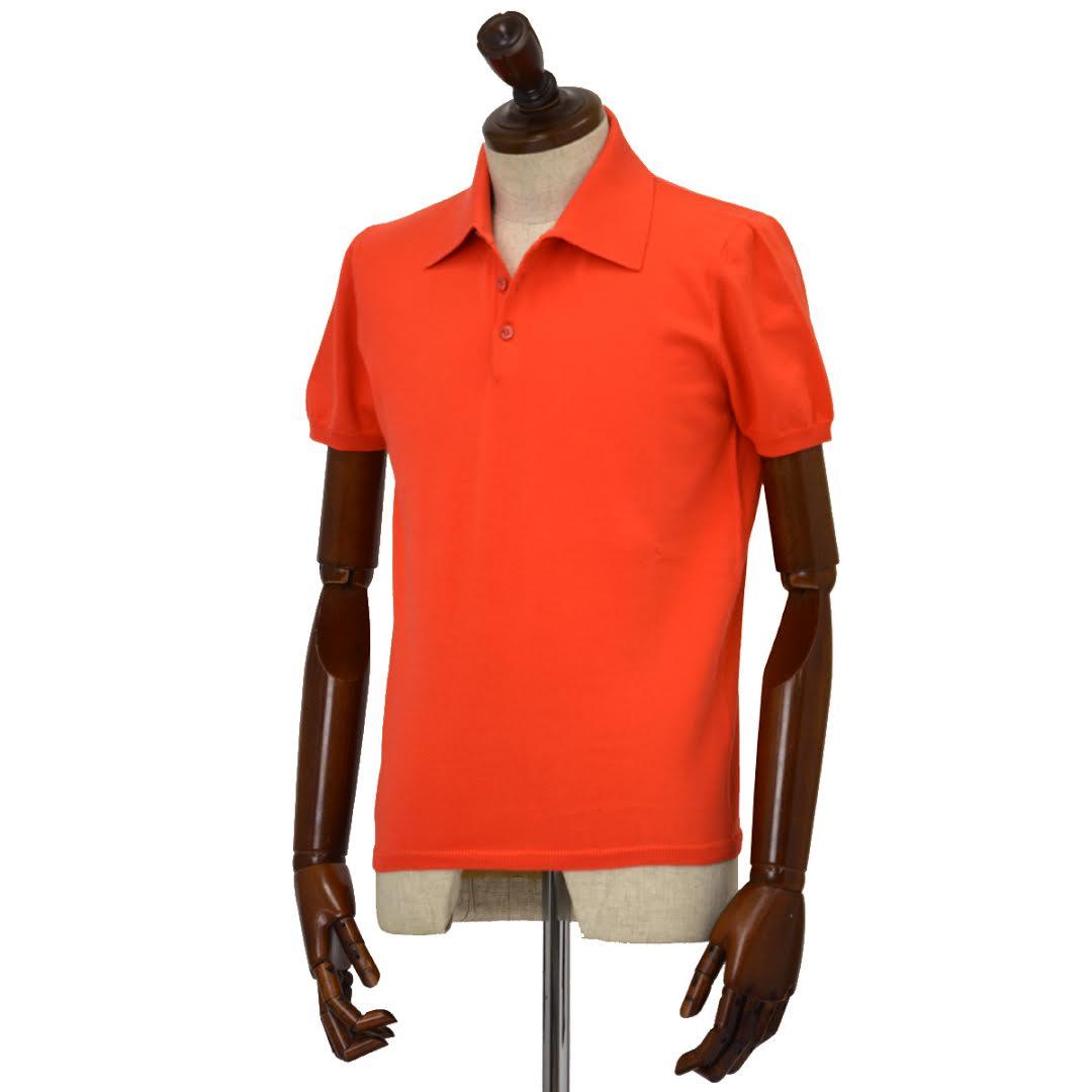 Cruciani【クルチアーニ】ニットポロシャツ CU285.GP30 68 コットン オレンジ