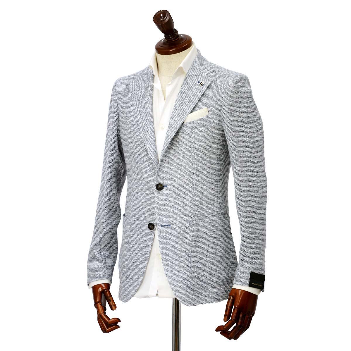 先行販売 早得 【袖修理無料】TAGLIATORE【タリアトーレ】シングルジャケット G-DAKAR 85UEG046 I1021 ダカール シルク リネン ブルー