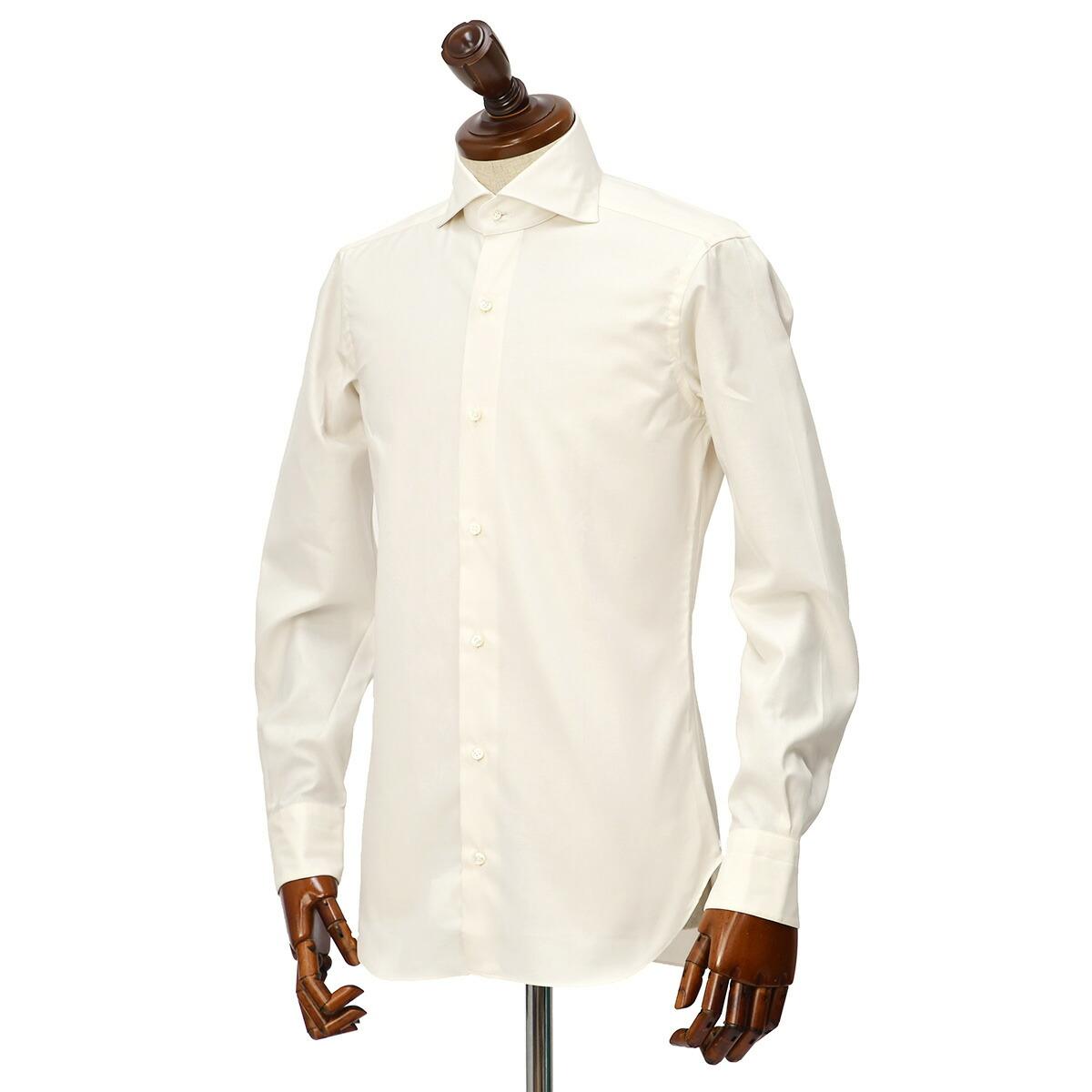 BARBA【バルバ】ドレスシャツ BRUNO I1U262U07413 フラシ コットン オックスフォード オフホワイト