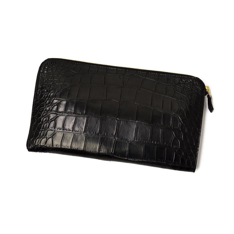 CISEI【チセイ/シセイ】CROCODILE clutch bag BLACK (クロコダイル クラッチバッグ ブラック)