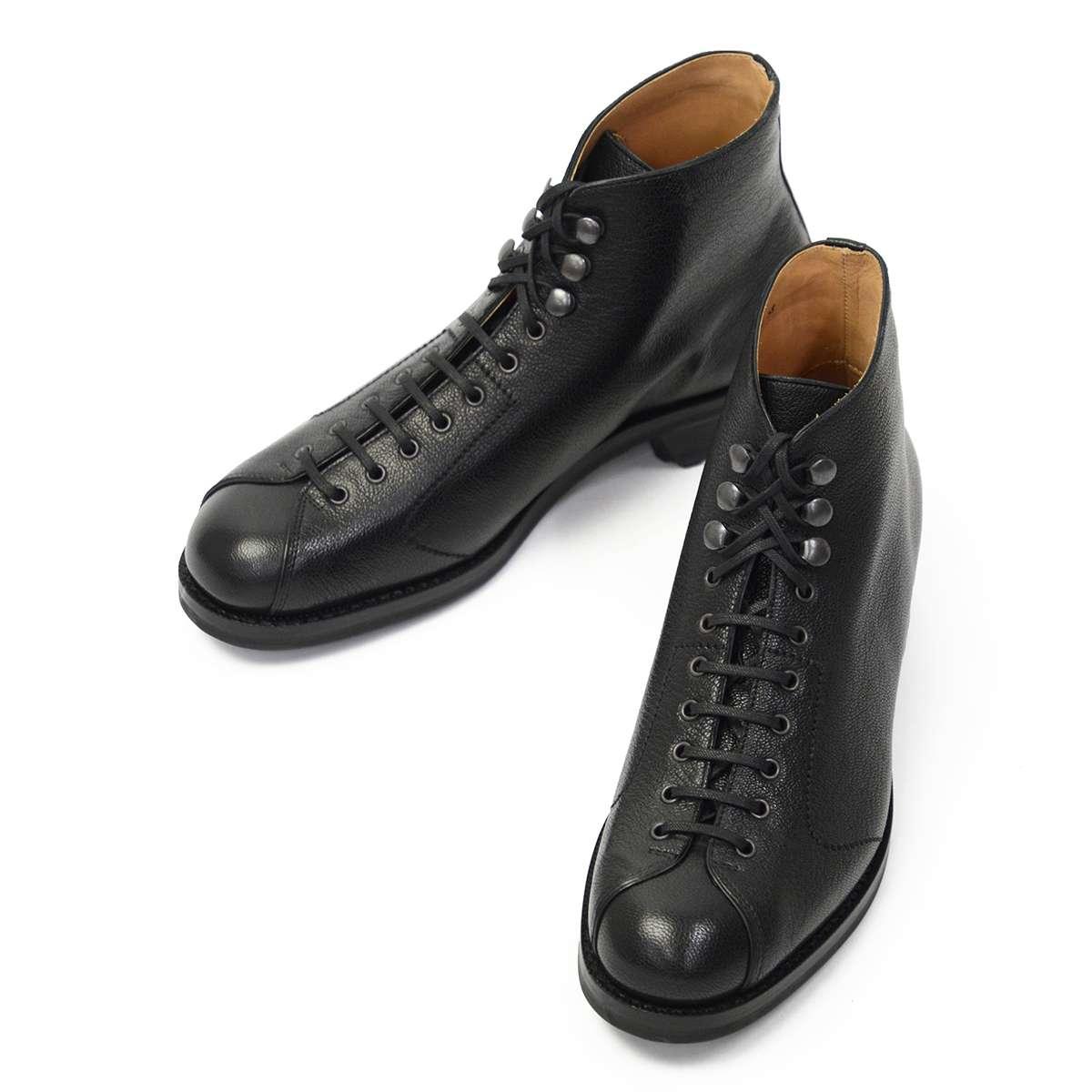 F.LLI Giacometti【フラテッリ ジャコメッティ】モンキーブーツ FG496 ゴートスキン ブラック