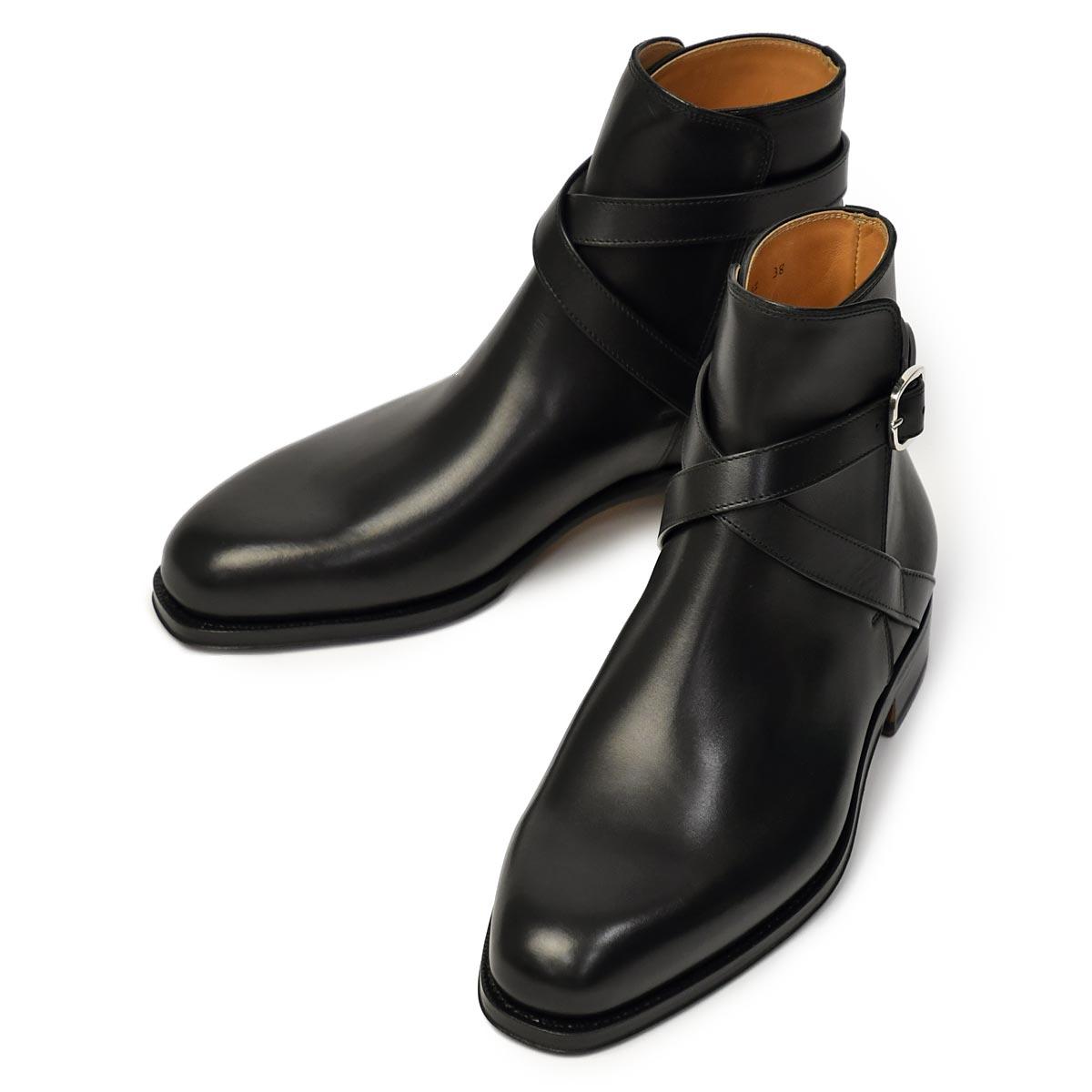 F.LLI Giacometti【フラテッリ ジャコメッティ】ジョッパーブーツ FG337 ボックスカーフ シャトーブリアン ブラック