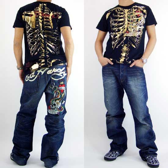Cio Inc Ed Hardy Mens Denim Jeans Tammy Nyc Sign Pocket