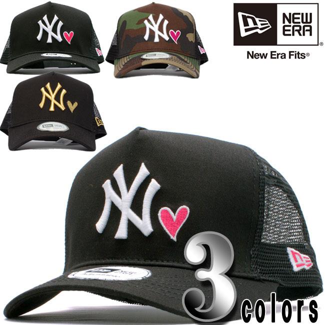 【楽天市場】ニューエラ ディーフレームトラッカーメッシュキャップ ニューヨークヤンキース ハート 3カラーズ New