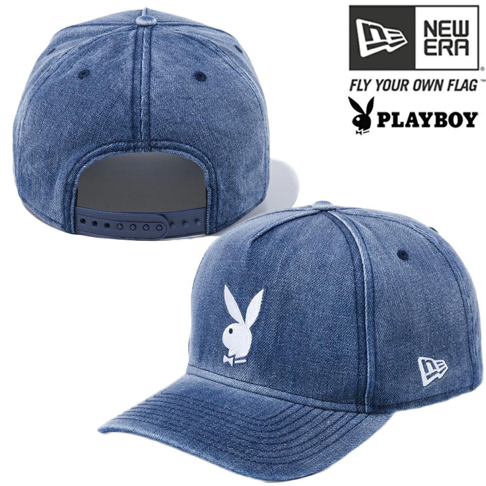 Cio Inc Playboy X New Gills 940 エーフレームトラッカーキャップウォッシュドデニム