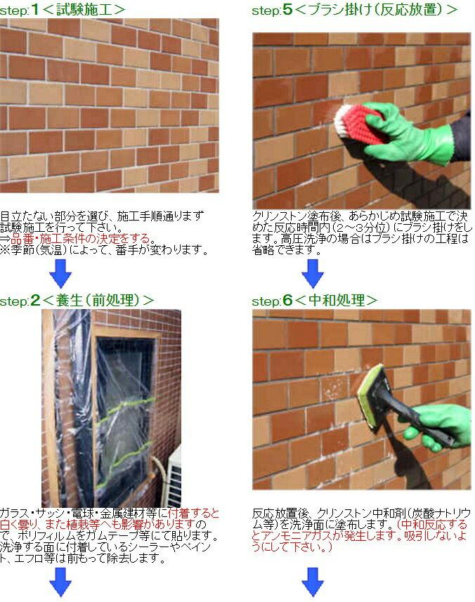 クリンストン タイル等の外壁洗浄剤