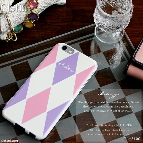 iPhone6ケース ダイヤ柄 スマホ ハードケース Clelia (10色) 【CL-5100】イメージ写真