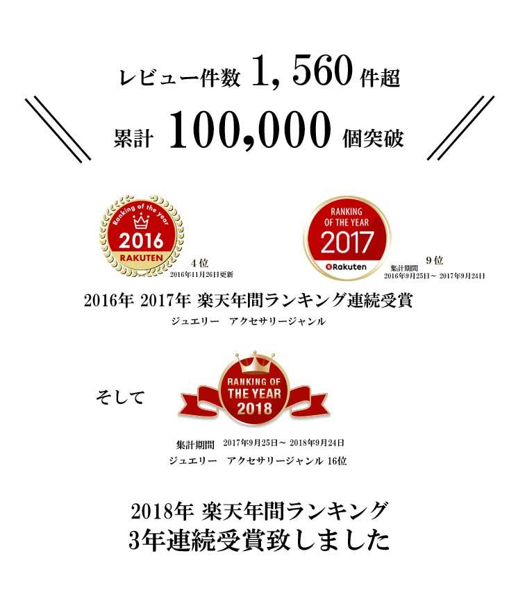 ネックレス 2016年、2017年間ランキング連続受賞