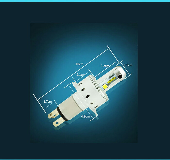 送料無料 新車検対応 ワンタッチ取付 【H4 Hi/Lo】16000LM LEDヘッドライトPhilips ZES /CREE製 XHP50 トラック ダンプ 12V/24V対応 8000lmx2個
